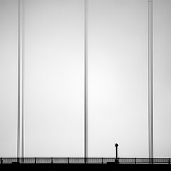 (sparth) Tags: sanfrancisco california bridge bw lines vertical square golden blackwhite gate san francisco noiretblanc august minimal telephoto goldengatebridge pont minimalistic 2010 carre 50d bwsquare