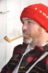 Pipe Smoker (sfPhotocraft) Tags: christmas hat beard smoke pipe buckscounty pipesmoker 2011 washingtoncrossing