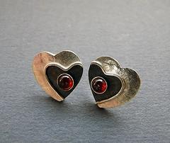 Sterling Silver Heart Earrings . (Kaila_jewellery) Tags: closeup silver photo heart jewelry earrings macrophoto gemstone sterlingsilver