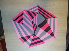 tester (Carl Cashman) Tags: geometric triangles painting 3d paint geometry contemporary bricks optical illusion carl blocks cashman
