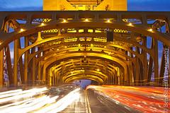 Tower Bridge, Sacramento (Ben Sheriff Photography) Tags: california bridge northerncalifornia night towerbridge landscape cityscape lighttrails sacramento bluehour carlights sacramentocounty capitolmall sacramentoskyline bensheriffphotography
