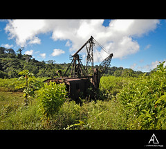 La nature reprend ses droits (Alexis.D) Tags: france nature french mine or guyana jungle foret grue miniere engin cacao guyane guiana explotation roura