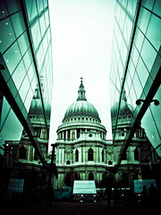 St Paul's Cathedral (KJGarbutt) Tags: city uk travel blue light vacation england sky holiday reflection tree london tower church glass st architecture photoshop reflections photography grey photo flickr catholic adobephotoshop cathedral gray stpauls pauls christian spire adobe christianity stpaulscathedral kurtis anonymous lightroom garbutt catholisism occupy adobelightroom kjgarbutt kurtisgarbutt kurtisjgarbutt occupylondon occupystpauls kurtisgrabutt kjgarbuttphotography