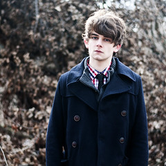 Baby it's cold outside (AndrewLuellen) Tags: gay winter portrait snow cold me fashion self outside photography nikon hipster tie jacket fancy burr menswear d90