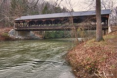 Mohican Bridge (andiwolfe) Tags: ohio landscape coveredbridge hdr amishcountry mohicancoveredbridge