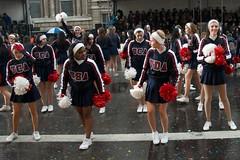 Cheerleaders in the rain (Ben Tilley) Tags: new london wet rain day cheerleaders mayor parade bands marching council borough years cheerleader mayors 2012 councils