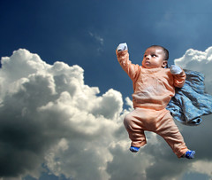 AyushMan [Explored] (Bhaskar Dutta) Tags: boy sky cloud baby fly kid spiderman son super superman explore hero batman ayushmaan
