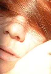My Burning Dream (Gretel S. Díaz) Tags: light red hair lips overexposed