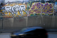 Roar & Aura (Say Cheese & Die) Tags: road street car graffiti freeway roar aura cbs cran