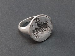 Europa Ring - silver (Blind Spot Jewellery) Tags: silver coin blind jewelry spot bull ring jewellery seal signet jewel blindspot blindspotjewellery