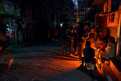 Kathmandu by night (Florent Chevalier) Tags: voyage trip travel nepal canon geotagged asia kathmandu asie    katmandou