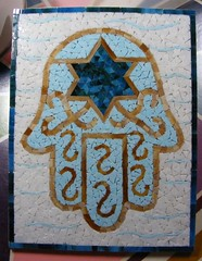 Hamsa (Mosaic Designs By Annie B) Tags: art symbol mosaic faith mosaics stainedglass jewish mosai hamsa