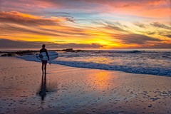 Sunset Surfer (mojo2u) Tags: california sunset beach sandiego surfer lajolla nikond700 nikon28300mm windenseabeach