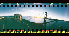 Top of the World (Leighton Wallis) Tags: sanfrancisco california birthday ca usa lomo lomography unitedstatesofamerica 360 goldengatebridge bayarea marinheadlands spinner 75thanniversary ggnpc11 hendrixpoint