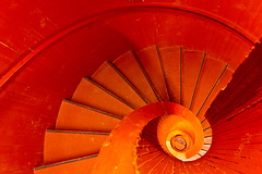 Staircase (Chrisseee) Tags: orange lines canon finland spiral turku library steps architectural staircase kristiinahillerstrm chrisseee getpushed