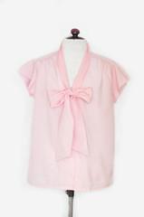 Vintage Delicate Pink Ascot Blouse (KelliOliver) Tags: pink vintage ascot blouse etsy vintagesoup