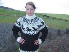 Icelandic sweater lady (Mytwist) Tags: sweater warm yarn jumper pullover thich lopi lopapeysa islandpullover