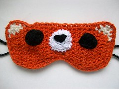 Foxy the fox sleep mask (Mooy) Tags: orange cute animal handmade crochet adorable fox kawaii etsy sleepmask sleepingmask mooeyandfriends