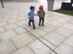 Let's explore the world ! (horstgeorg) Tags: street fashion kids germany children walk hats explore wolfsburg autostadt
