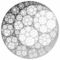 Apollonian Gasket and Circle Inversion (fdecomite) Tags: circle geometry packing math fractal gasket imagej apollonian