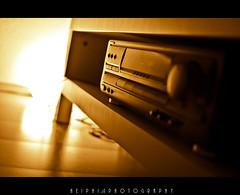 stereo (*HEIPHI*) Tags: light music orange white black yellow licht nikon warm dof bokeh lautsprecher stereo gelb surround soul sound feeling musik weiss schwarz klang listen anlage d5100 heiphi