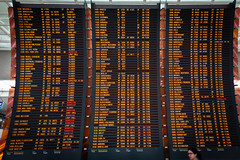 Roll the dices! (Éole) Tags: world travel light sign airport europe closed display flight cities planes departures cdg destinations aéroport charlesdegaulleairport lumninous