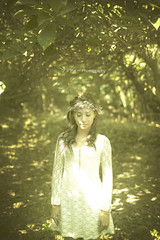 Angel in the Forest (Andypk99) Tags: wedding portrait white green love nature grass angel forest 35mm canon project asian dress f14 story pre theme mk2 5d tone 35l 5dmkii
