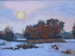 Winter Moonrise     6 x 8