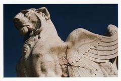 Stone (BriggsyG) Tags: italy film statue stone 35mm wings lion piazzavenezia wingedlion