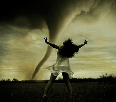 steal the things you ought to borrow (Brooke Golightly) Tags: portrait sky woman white selfportrait storm female clouds self fly emotion dusk tornado