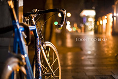 29 of 50 - I dont do bikes! (Martin-Klein) Tags: bike bicycle nightlights dof bokeh dsseldorf k strobist