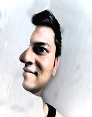 Dilusion (Bhaskar Dutta) Tags: boy two portrait selfportrait man male guy smile face look self idea exposure side creative front double illusion layer genius conceptual edit dilution
