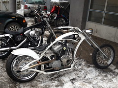 Silver Leaf / Pinstriping - Chopper (Marius Mellebye / 276ccm) Tags: chopper frame motorcycle redneck custom eng buell bobber silverleaf mariusmellebye redneckengineering 276ccm