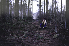 Something in the air (Anne Mortensen) Tags: blue portrait me girl self denmark woods forrest annemortensen