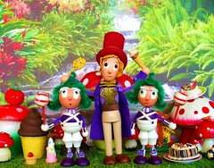 Willy Wonka (judibird) Tags: wood art toy doll candy handmade willywonka oneofakind ooak craft dot icecream oompaloompa whimsical chenille vintagestyle charliethechocolatefactory