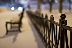 Midnight White (J and J and M and M) Tags: white snow chicago bench powder freshsnow sheddaquarium chicagoist midnightwhite