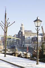Voorhaven Delfshaven, Pilgrim Fathers Church. (PvRFotografie) Tags: winter snow church lensbaby rotterdam sneeuw kerk delfshaven pilgrimfatherschurch sweet35