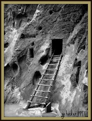 Bandelier in Black and WhiteBandelier NM 1997 (the Gallopping Geezer '5.0' million + views....) Tags: cliff mountains newmexico film village structure historic nativeamerican 1997 hdr geezer americanindian bandelier dwelling cliffdwellings