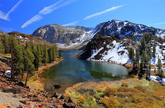 Fall at Ellery Lake (Dave Toussaint (www.photographersnature.com)) Tags: california ca travel vacation usa mountain lake nature water photoshop canon landscape photo interesting october day cs2 pass clear explore adobe yosemite northern adjust infocus tiogapass highway120 ellerylake easternsierra leevining 2011 60d topazlabs photographersnaturecom davetoussaint davetoussaintcom mygearandme mygearandmepremium ringexcellence dblringexcellence
