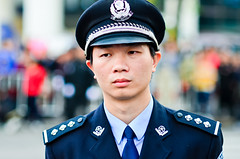 What a Life! (A. adnan) Tags: portrait police guard parade china zhongshan guangdong color dof nikon chinese man publicservice profession 85mm nikon85mmf18d uniform