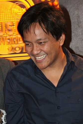 Nominee Ebe Dancel during MMA 2012 announcement of nominees (photo by Allan Sancon)
