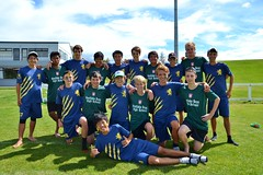 """Westlake Boys' High School and Auckland Grammar School after the final of the Ultimate Frisbee Nationals • <a style=""""font-size:0.8em;"""" href=""""http://www.flickr.com/photos/84092708@N05/13452868895/"""" target=""""_blank"""">View on Flickr</a>"""