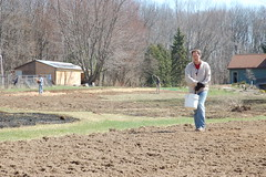 "Mike Scattering Barley Seed <a style=""margin-left:10px; font-size:0.8em;"" href=""http://www.flickr.com/photos/91915217@N00/13920040251/"" target=""_blank"">@flickr</a>"