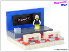 Einstein and the mass–energy equivalence (MSP!) Tags: lego einstein giants shoulders vignette philosopher physicist mathematician