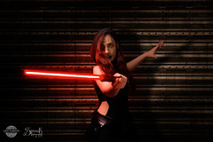 Geo Kuromi as a Female Sith by SpirosK photography: Cornered (SpirosK photography) Tags: portrait studio starwars cosplay sith costumeplay femalesith spiroskphotography geokuromi