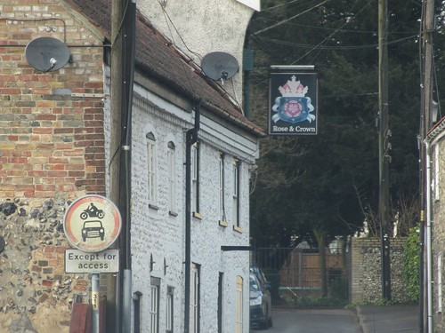 Rose and Crown Sign, St Nicholas Street, Thetford, Norfolk
