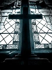 st mary's leake 8_4 (ian.meekham) Tags: wood light shadow blackandwhite bw black texture church monochrome dark mono blackwhite cross yorkshire faith olympus crucifix spirituality lightshadow tone lightandshadow woodcarving religiousicon churchinteriors em5 yorkshirechurches olympusem5