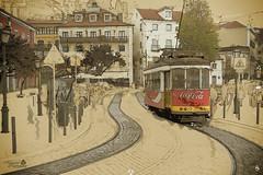 Lisboa Tramp (MarcialCG) Tags: street drawing lisboa picture trams trolleycar tranvia mixart