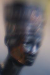 egyptian bust (millr the shootist) Tags: blur macro lensbaby head souvenir copper trinket