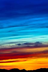 Blue and gold sunrise over the Cascades (iaakisa) Tags: usa sunrise cascaderange frommybalcony